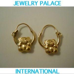 🆕 Accessories - 🆕14K Gold Filled Cuddly Teddy Bear Hoop Earrings